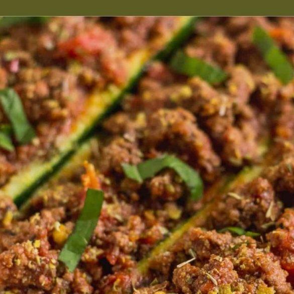 beef zucchini boats. recipe